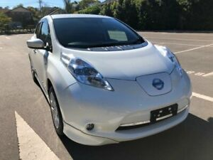 2016 Nissan Leaf ZE0 White 1 Speed Automatic Hatchback Five Dock Canada Bay Area Preview