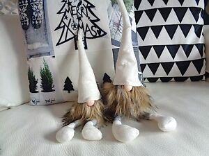 Filzwichtel Kantenhocker Filz Wichtel 50 cm Weihnachtswichtel ♥ Weiß