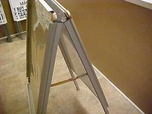 """**ONLY 5 LEFT** ACT QUICKLY**ALL WEATHER ALUMINUM INDOOR/OUTDOOR FOLD UP SANDWICH BOARDS 48"""" HIGH DRY BOARD or POSTER"""
