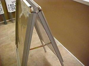 "ALL WEATHER ALUMINUM INDOOR/OUTDOOR FOLD UP SANDWICH BOARDS 48"" HIGH DRY BOARD or POSTER or SALE ITEMS or MENU OR ????"