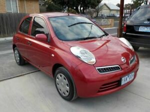 2010 Nissan Micra K12 Red 4 Speed Automatic Hatchback Newtown Geelong City Preview