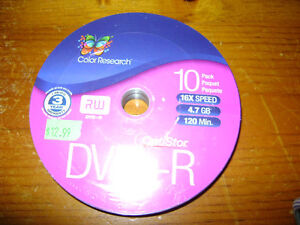 BRAND NEW Color Research DVD+R/RW Unopened 10pk London Ontario image 2