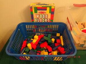 Wooden Blocks:  Over 250 Blocks Including 95 Melissa & Doug Pcs!