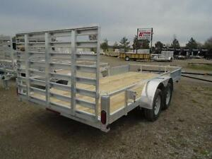 16' ALUMINUM UTILITY TRAILER - ATV RAMPS - BOTTOM LINE PRICING! London Ontario image 2