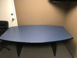 Blue Office Boardroom Meeting Room Table Excellent Condition!