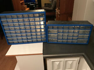 2 x Multi Drawer Storage Containers