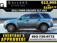 2011 Ford Escape XLT 4WD V6 $109 Bi-Weekly APPLY NOW DRIVE NOW