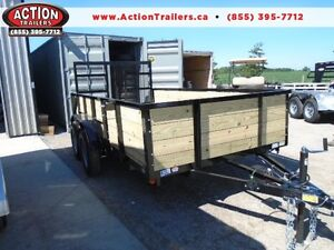 6 x 12 tandem axle landscape trailer - high sides -fits lots ! London Ontario image 1