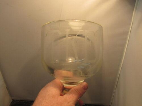 Vintage  Fraternity glass goblet TKE College