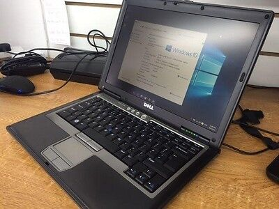 "Dell Latitude D820 Windows 10 15.4"" Laptop 4GB 120GB HD WiFi New Battery"