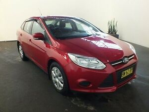 2013 Ford Focus LW MK2 Ambiente Red 6 Speed Automatic Sedan Clemton Park Canterbury Area Preview