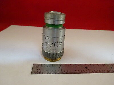 Microscope Part Vickers England Uk Objective Microplan 40x Optics As Is 21-a-23