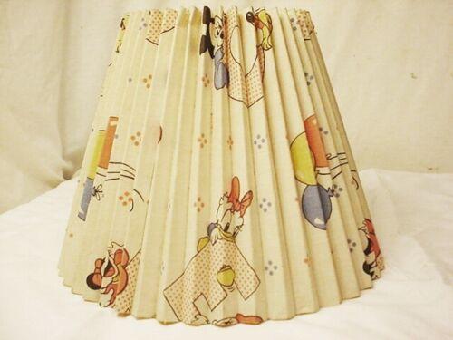 """Vtg Walt Disney Mickey Minnie Mouse Daisy Duck Lamp SHADE Clip On 8"""" High 1984"""