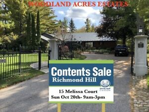 CONTENT SALE- RICHMOND HILL (WOODLAND ACRES ESTATES) SUN OCT 20!