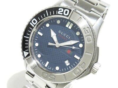 Auth GUCCI G-Timeless sports 126.2 Black 14956078 Men