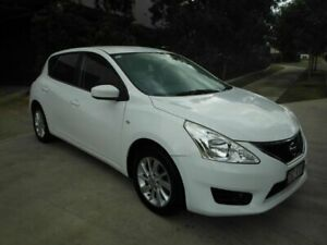2014 Nissan Pulsar C12 ST White 1 Speed Continuous Variable Hatchback Kedron Brisbane North East Preview