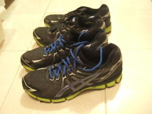 size 12 good condition men Asics running shoes, 8598