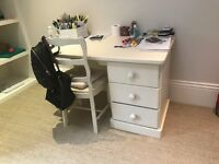 Painted wooden desk