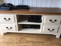 Cream/Pine tv cabinet