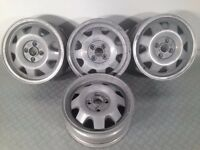 "ATS CUP 4X100, 15"" staggered set two 5.5J and two 7J. Deep dish alloy wheels, Made in Germany"
