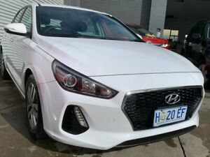 2017 Hyundai i30 PD MY18 Active White 6 Speed Sports Automatic Hatchback North Hobart Hobart City Preview
