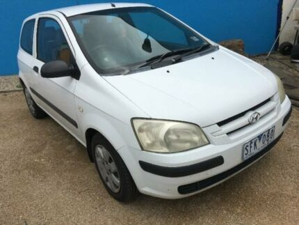 2003 Hyundai Getz TB FX White 5 Speed Automatic Hatchback Hoppers Crossing Wyndham Area Preview