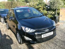 2012 HYUNDAI I20 1.2cc BLACK GENUINE 16900 MILES NEW 12 MONTH M.O.T.