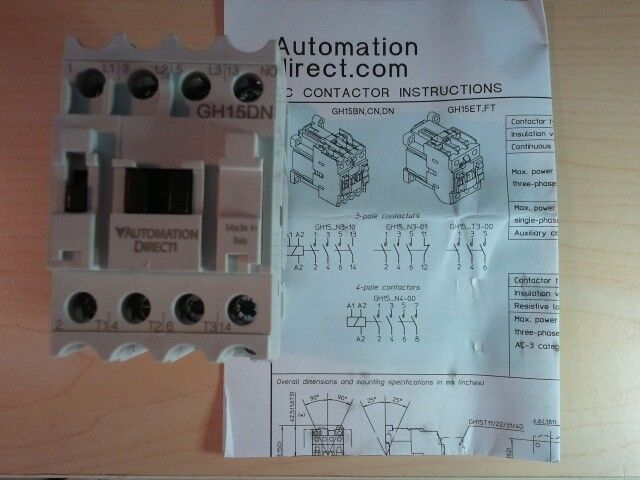 automation direct contactor units