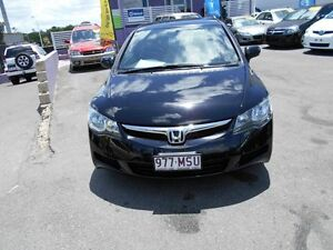 2008 Honda Civic MY07 VTi Black 5 Speed Automatic Sedan Greenslopes Brisbane South West Preview