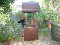 Custom Made Wishing Well, Made with local wood, great decoration
