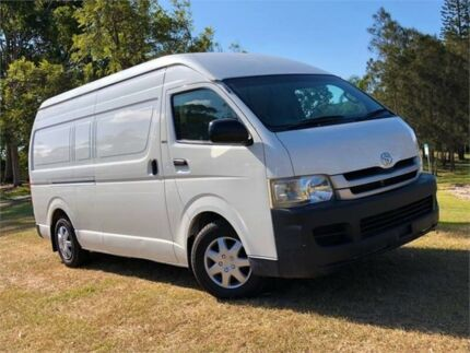 2008 Toyota Hiace TRH221R MY08 High Roof Super LWB White 5 Speed Manual Van Burleigh Heads Gold Coast South Preview