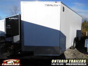 "ONTARIO TRAILERS TANDEM 8.5' X 16'+36"" V-NOSE MUSTANG SE"