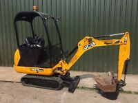 JCB 8014 CTS, YEAR 2014, 829 HOURS, 3 BUCKETS, MINI DIGGER EXCAVATOR.