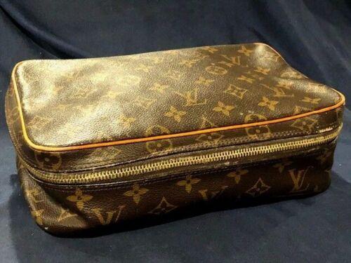 vintage Louis Vuitton nécessaire cosmetic bag 10x6 1/2x3 in pre owned 1980s era