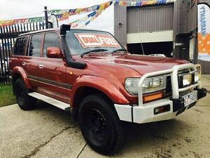 1996 Toyota Landcruiser GXL (4x4) Maroon 4 Speed Automatic 4x4 Wagon Brooklyn Brimbank Area Preview