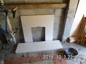 White Marble Fire Surround and Hearth