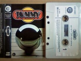 A-Z VERY RARE ORIGINAL TOMMY BY LSO W/ TOWNSHEND WINWOOD DALTRY STARR ETC PRERECORDED CASSETTE TAPES