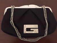 GUESS DRESSY PURSE BLACK W/ CHAIN STRAP LIKE NEW!!!