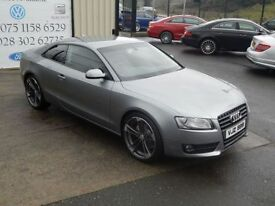 AUDI A5 2.0 TDI SPORT 168 BHP COUPE ( FINANCE & WARRANTY A (grey) 2009