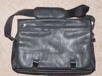 "16"" 'Luigi Rossi' Soft LEATHER Laptop Executive Case/Bag/Messenger Bag"