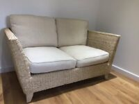 M and S Bermuda Rattan , Small Sofa, Armchair and two glass top tables