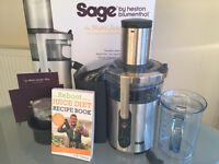 Sage Nutri Juicer Plus 1300W by Heston Blumenthal - like new!