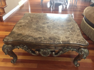 MOVING...SELLING DESIGNER MARBLE COFFEE & END TABLES