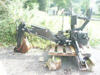 Tractor 3 point link Backhoe