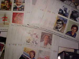2 Millennium Souvenire Sets 8 Extra Sheets 15 Of Another Set Pl+ London Ontario image 3