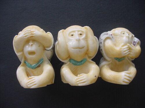 Hear Speak & See No Evil  Monkey 3 pc Set Fidurines