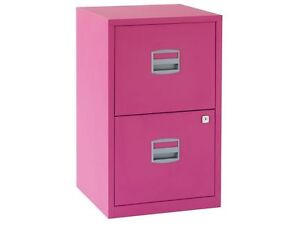 Bisley Filing Cabinet Funky Fuschia Pink A4 2 Drawer