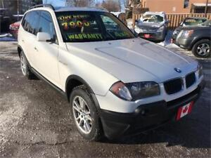 2006 BMW X3 2.5i AWD PREMIUM PANORAMIC ROOF...ONLY $6900.