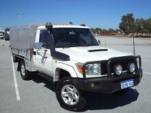 2008 Toyota Landcruiser VDJ79R GX (4x4) White 5 Speed Manual Cab Chassis Maddington Gosnells Area Preview