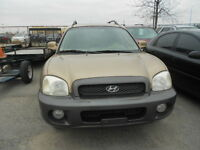 2003 Hyundai Santa Fe GLS, AWD, Leather-CERTIFIED